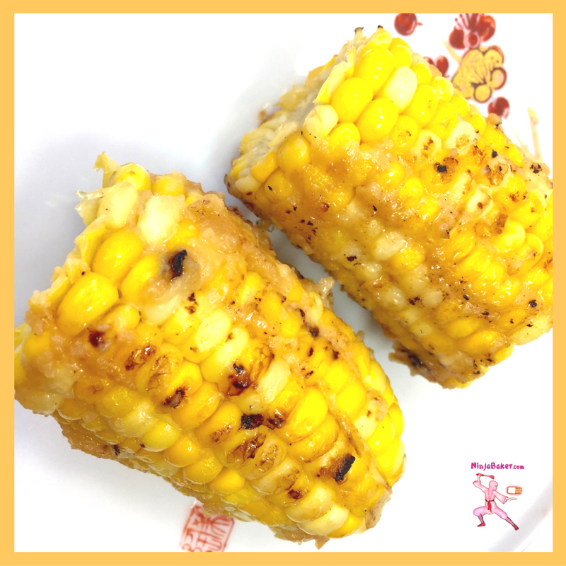 Japanese miso glazed corn easy recipe side dish