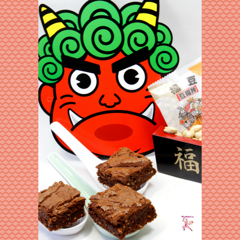 Japanese setsubun brownies healthy soybeans Japan culture