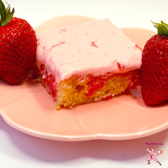 Pink Chocolate Marble Cake with Fresh Strawberry Frosting, # ...