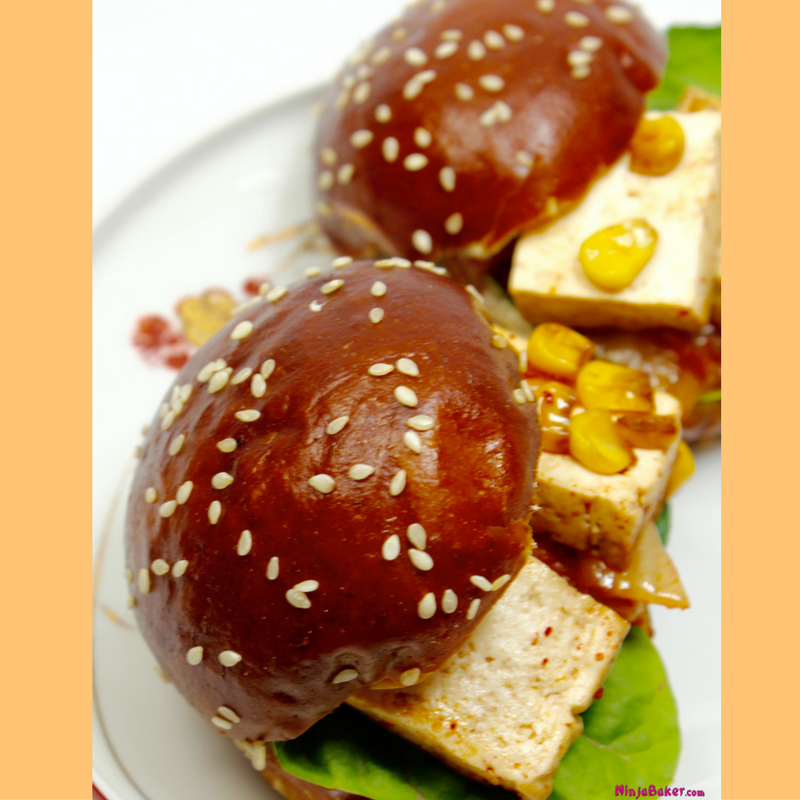 Japanese Korean Tofu Kimchi Sliders easy recipe Japan Korea imports to USA