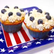 blueberry easy recipe cupcakes for fourth of july