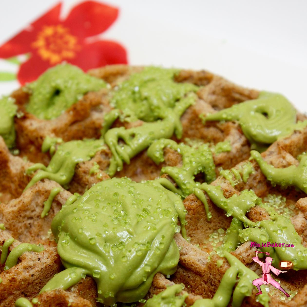 #vegan #waffles #Japanese #matcha #coconutcream